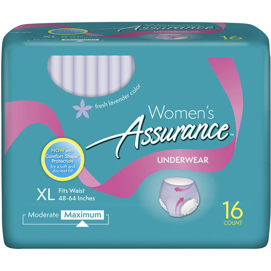 Assurance for Women Maximum Absorbency Protective Underwear, Small/Medium, 6 count