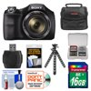 Sony Cyber-Shot DSC-H300 Digital Camera with 16GB Card + Case + Flex Tripod + Kit ** Kit Includes 9 Items with all Manufacturer-supplied Accessories + Full USA Warranties: 1) Sony Cyber-Shot DSC-H300 Digital Camera 2) Transcend 16GB SecureDigital Class 4 (SDHC) Card 3) Precision Design PD-C10 Camera / Camcorder Case 4) Precision Design PD-T14 Flexible Compact Camera Mini Tripod 5) Precision Design SD/SDHC + MicroSD HC Card Reader 6) Precision Design 5-Piece Camera + Lens Cleaning Kit 7) Precision Design 8 SD / 2 MicroSD Memory Card Case 8) Precision Design Universal LCD Screen Protectors 9) Image Recovery Software