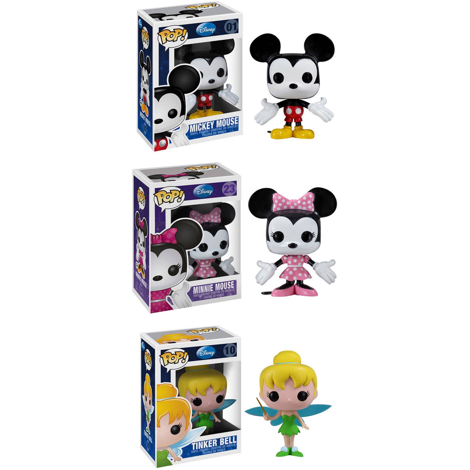 Funko Classic Disney POP! Disney Vinyl Collectors Set: Mickey Mouse, Minnie Mouse and Tinker Bell