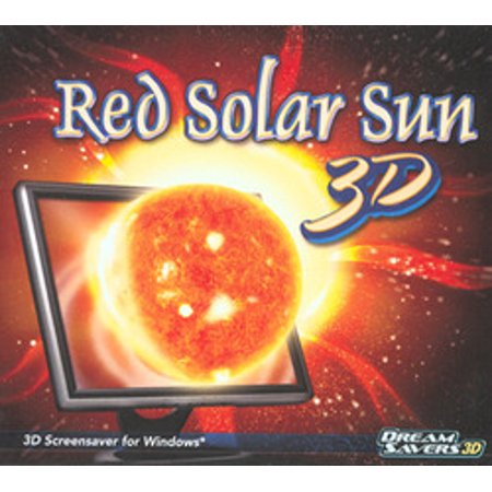 Red Solar Sun 3D Screensaver for Windows