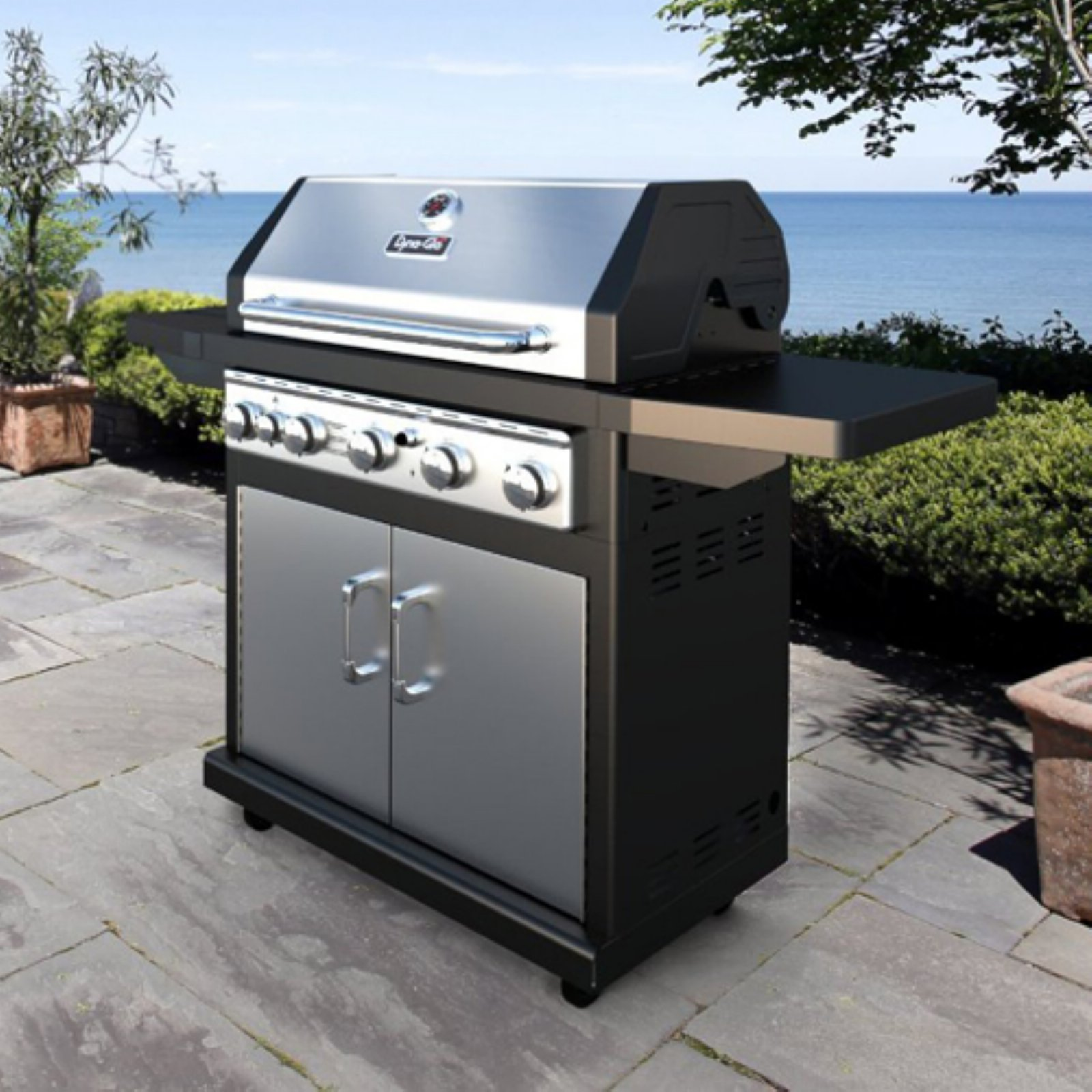 dyna glo 5 burner gas grill with side burner walmart com