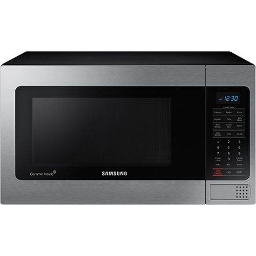 Samsung 1.1 cu ft Counter-Top Microwave with Ceramic Enamel Interior, Stainless Steel