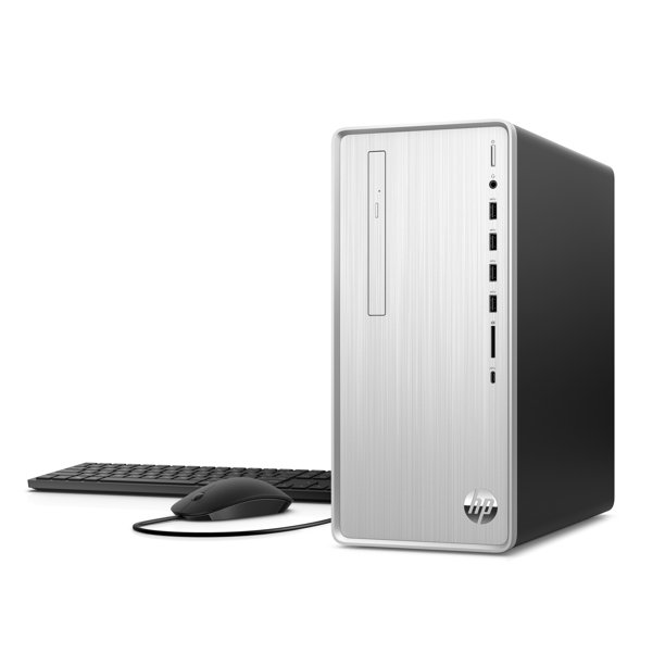 HP Pavilion Desktop, Intel Core i5-9400 processor, Intel UHD Graphics 630, 1TB HDD and 256GB SSD, 12GB RAM, Windows 10 Home, TP01-0050