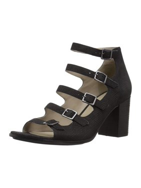 4a2c2edc7 Product Image Naturalizer Womens Imogene Leather Open Toe Casual Strappy,  Black, Size 7.5