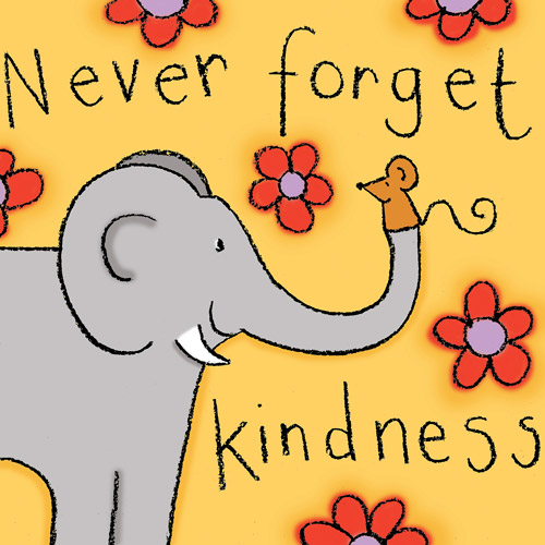 """Never Forget"" Elephant Wall Art"