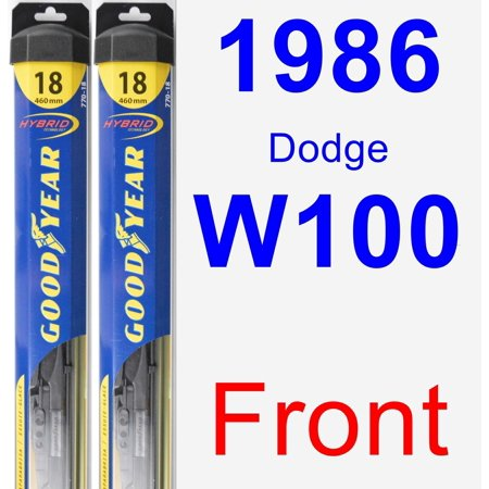 1986 Dodge W100 Wiper Blade Set/Kit (Front) (2 Blades) - Hybrid