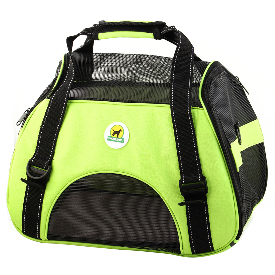 Pet Dog Faux Leather Carrier Travel Tote Trolley Luggage Bag Case Cage Yellow