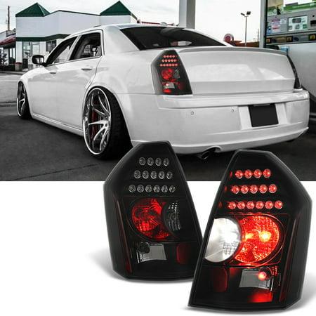 Fit 2005-2007 Chrysler 300 Replacement LH + RH Black Smoke LED Tail Lights Lamps 01 Rh Tail Lamp