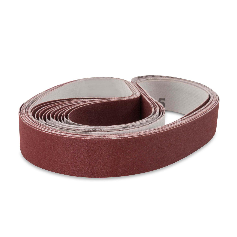 1 X 44 Inch 180 Grit Aluminum Oxide Metal Sanding Belts 12 Pack