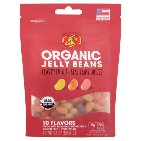 Jelly Belly, Organic 10 Assorted Flavors Jelly Beans, 5.5 Oz