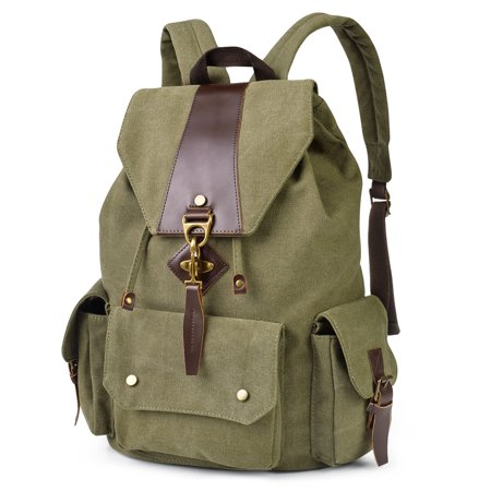 Canvas Large Boston Bag - Canvas Backpack Casual Shoulder Bag Large Capacity Travel Daypack for Men and Women