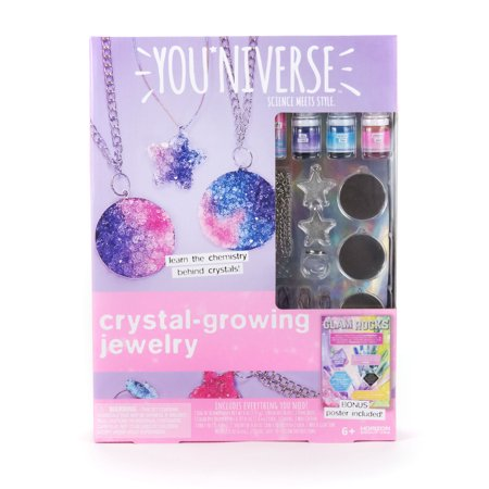 Youniverse Crystal Growing Jewelry Kit, 1 - Craft Jewelry Art