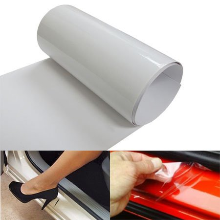 iJDMTOY 6 by 60 Inches Clear Door Sill Protection Scratch Film Vinyl Sheet ()
