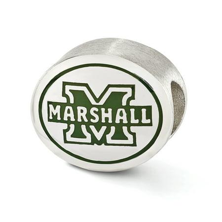 Marshall University Charm (Marshall University Collegiate Charm in Sterling Silver &)