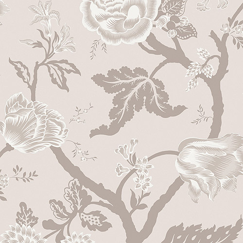 Blue Mountain Floral Trail Wallcovering, Quartz
