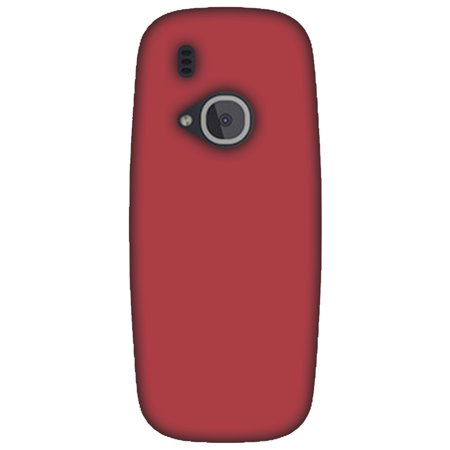Nokia 3310 Case - Amaranth Red, Hard Plastic Back Cover. Slim Profile Cute Printed Designer Snap on Case with Screen Cleaning Kit