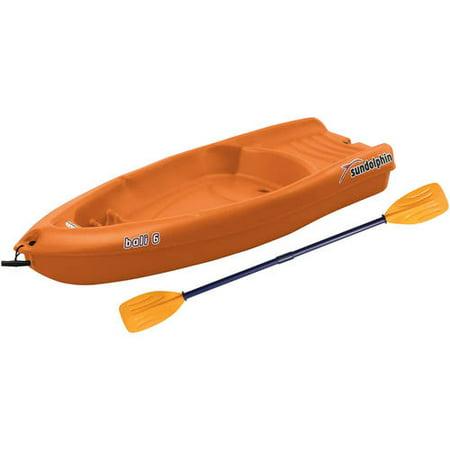 Sun Dolphin Bali 6' Youth Kayak Tangerine, Paddle