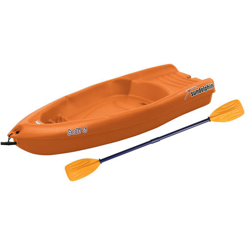 Sun Dolphin Bali 6' Youth Kayak Tangerine, Paddle Included