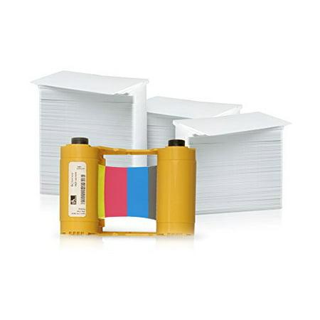 Zebra 200 Print YMCKO Ribbon for ZXP Series 3 (800033-840) and 200 AlphaCard  Premium Blank PVC Cards Bundle - Walmart.com 34b200a58