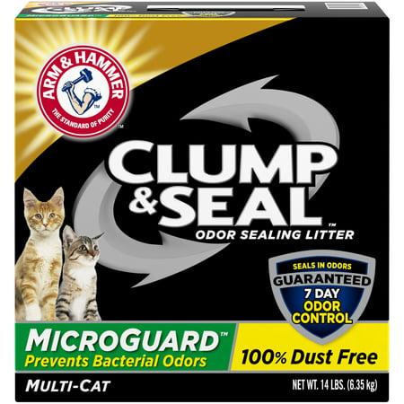 Arm & Hammer Clump & Seal MicroGuard Cat Litter, 14