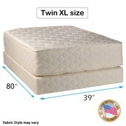 """Highlight Luxury Firm Twin XL Size (39""""x80""""x14"""") Mattress & Box Spring Set - Fully Assembled - Spinal Back Support, Innerspring Coils, Premium edge guards, Longlasting Comfort - By Dream Solutions USA"""