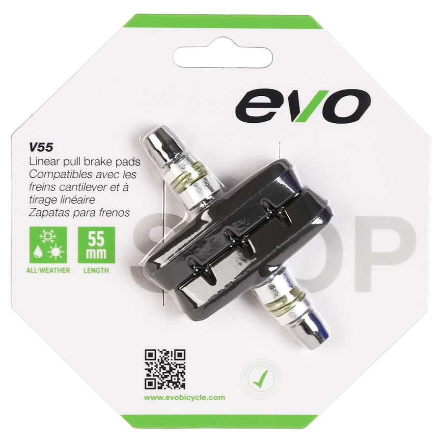 EVO, V55, V-brake pads, 55mm, Threaded post