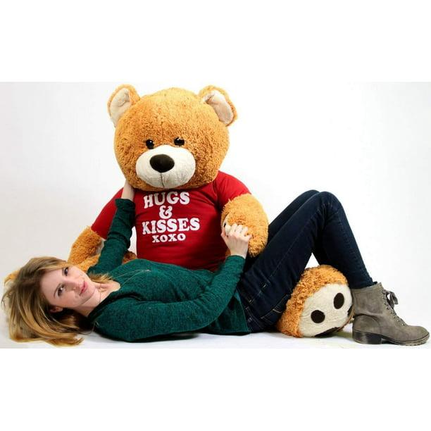 Baby Net For Stuffed Animals, Big Plush Giant Valentine Teddy Bear Five Feet Tall Honey Brown Color Wears Tshirt That Says Hugs And Kisses Xoxo Walmart Com Walmart Com