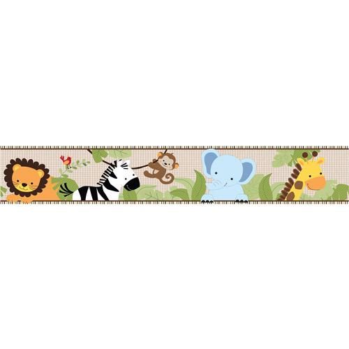 Lambs & Ivy Bedtime Originals Jungle Buddies Wallpaper Border by Lambs %26 Ivy
