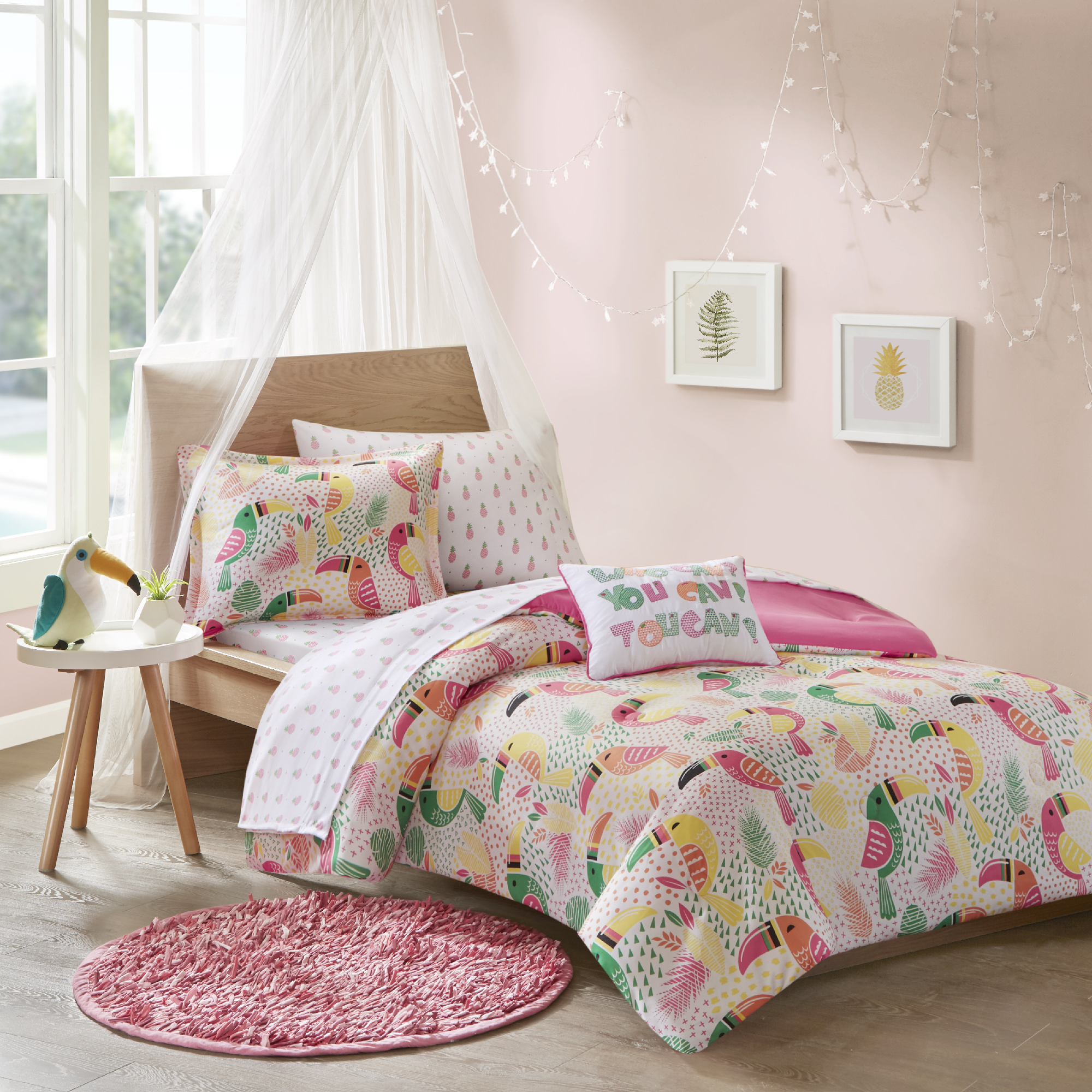 Home Essence Kids Toot Toot Toucan Complete Bed and Sheet Set