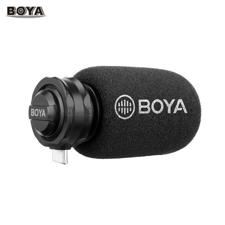 Cardioid Condenser Recording Microphones (BOYA BY-DM100 Digital Stereo Cardioid Condenser Microphone Superb Sound for Android USB Type-C Devices Recording )