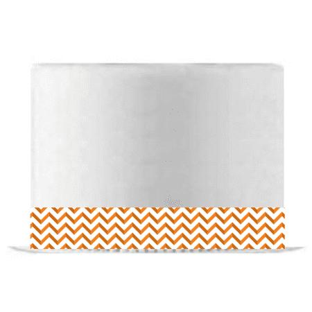 Ribbon Strips - Orange Chevron Edible Cake Decoration Ribbon -6 Slim Strips