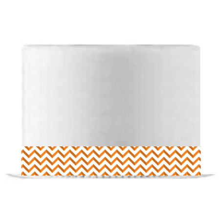 Orange Chevron Edible Cake Decoration Ribbon -6 Slim Strips