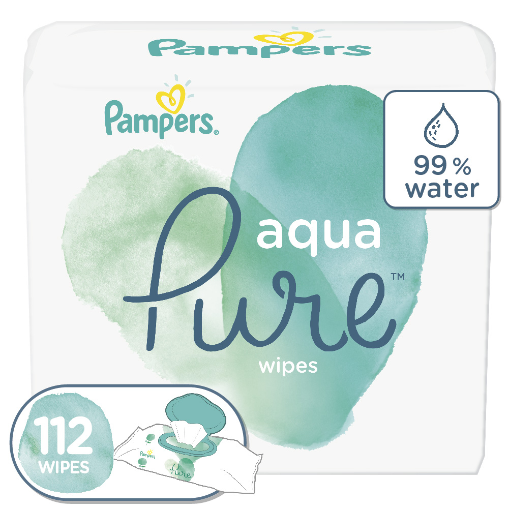 Pampers Aqua Pure Baby Wipes - 112ct