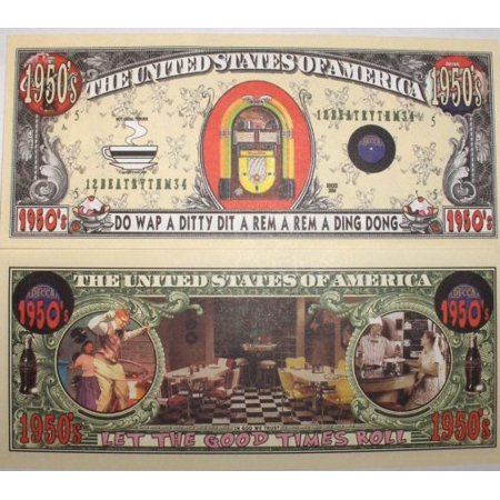 Set of 10 Bills-Let The Good Times Roll 1950's, By Novelties - Wholesale Novelties