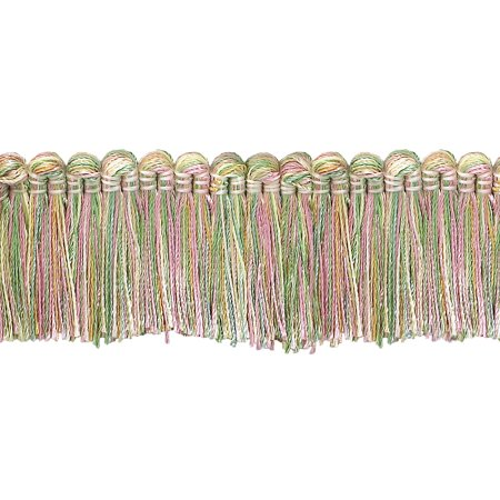 5 Yard Value Pack   Dusty Rose  Pastel Green  Lt Gold 1 1 4  Imperial Ii Brush Fringe Style  0150Ib Color  Rose Garden   3549  4 5 M   15 Ft