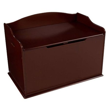 KidKraft Austin Wooden Toy Organizer Storage Chest Box and Sitting Bench, Cherry - Chest Box