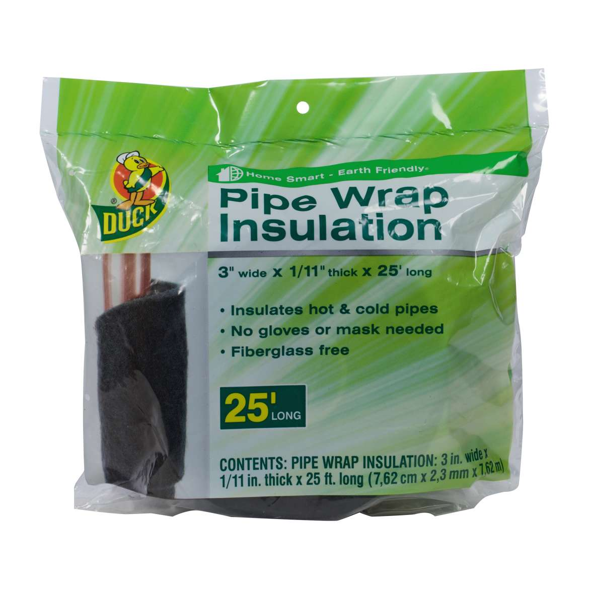 "Duck Brand Pipe Wrap Insulation, 3""x25'"