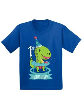 Awkward Styles Dinosaur Birthday Tshirt for Baby 1st Birthday Infant Shirt First Birthday Gifts Dinosaur Birthday Boy Shirt Gifts for Birthday Girl Shirts for 1 Year Old 1st Birthday Party Outfit