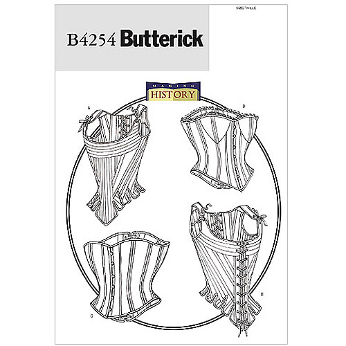 Butterick Pattern Misses' Stays and Corsets, (12, 14, 16)