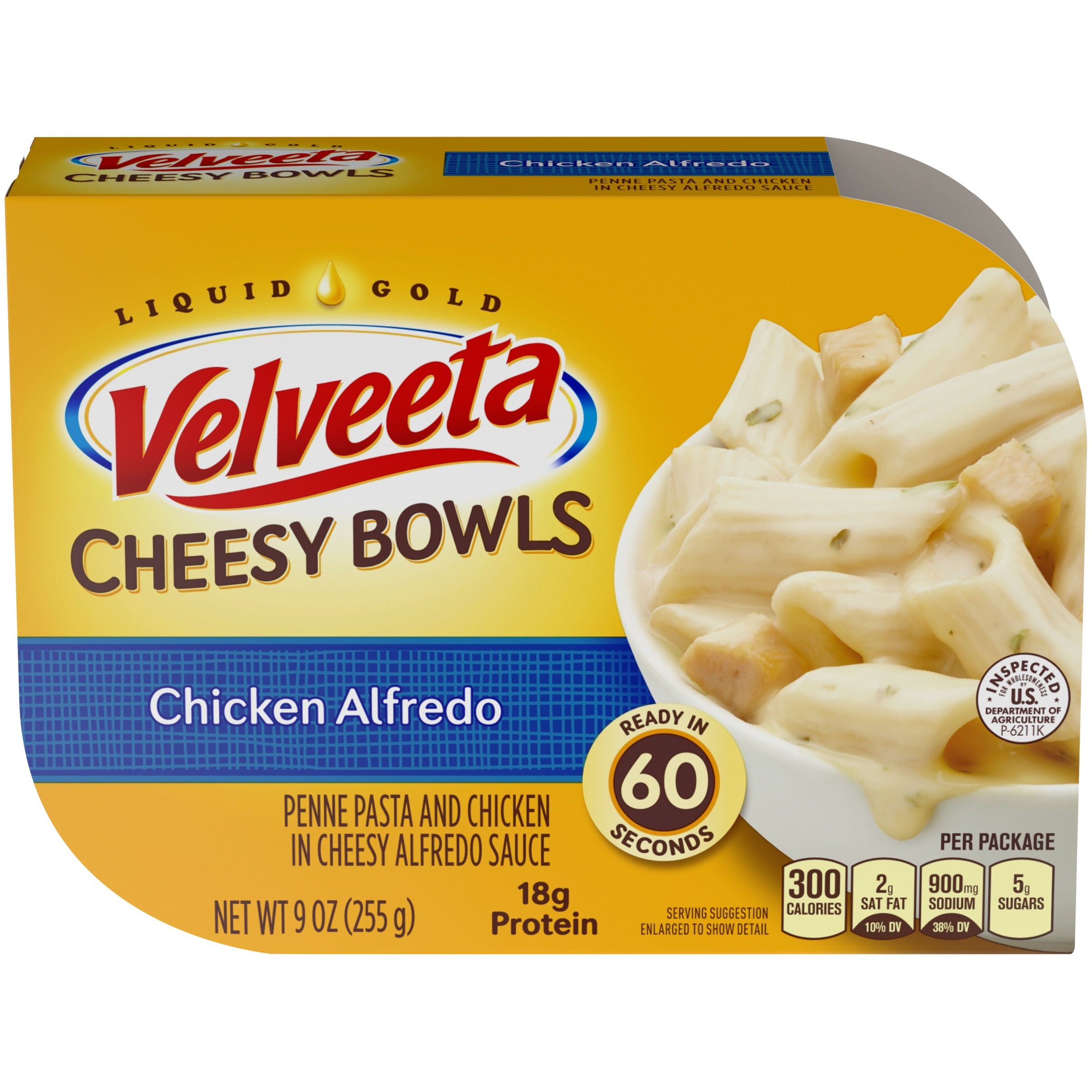 Velveeta Chicken Alfredo Cheesy Bowls 9 oz. Tray