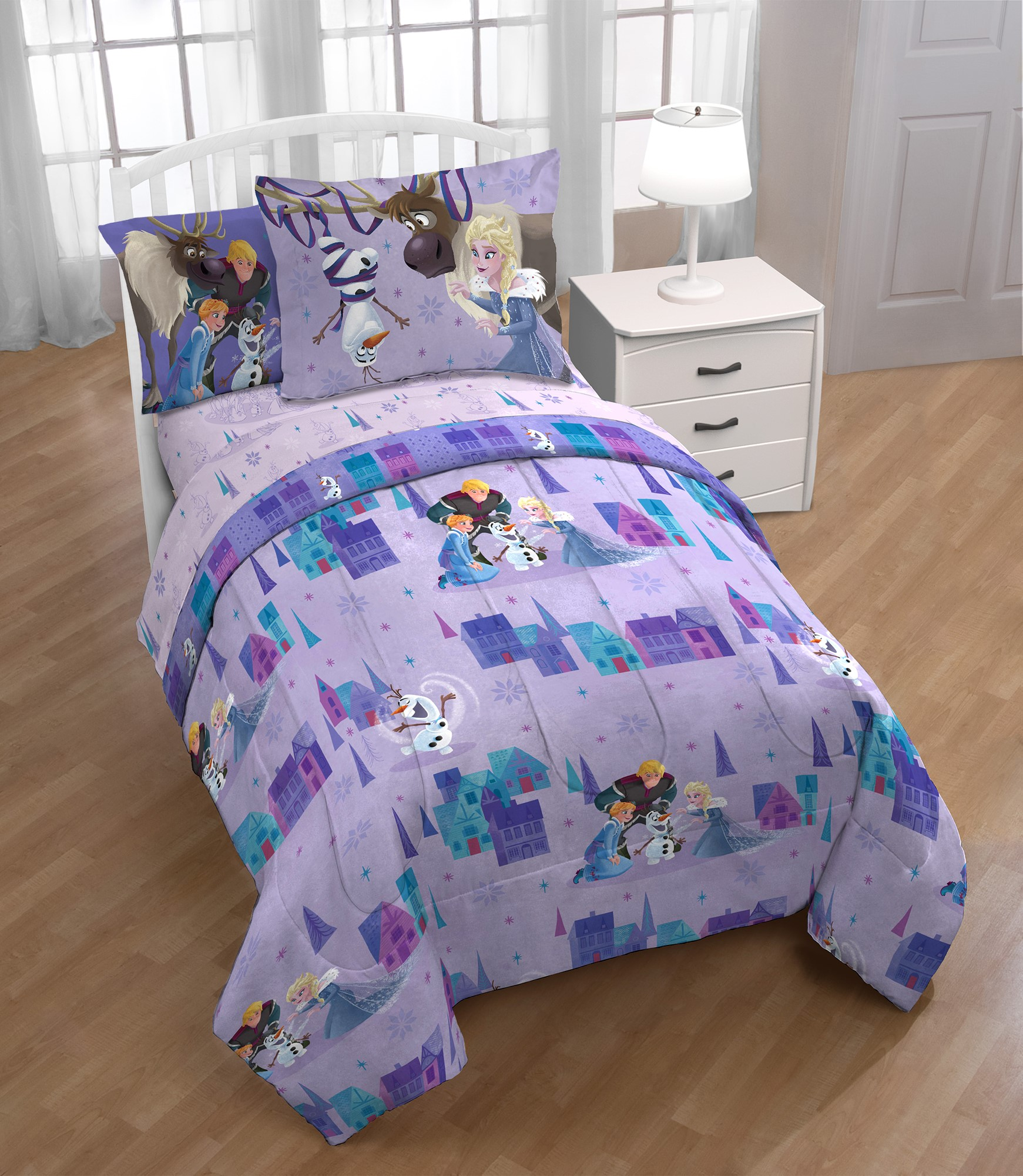 Disney Frozen Olaf �Family Ties Twin Bed in a Bag Bedding Set with Bonus Tote by Franco Manufacturing
