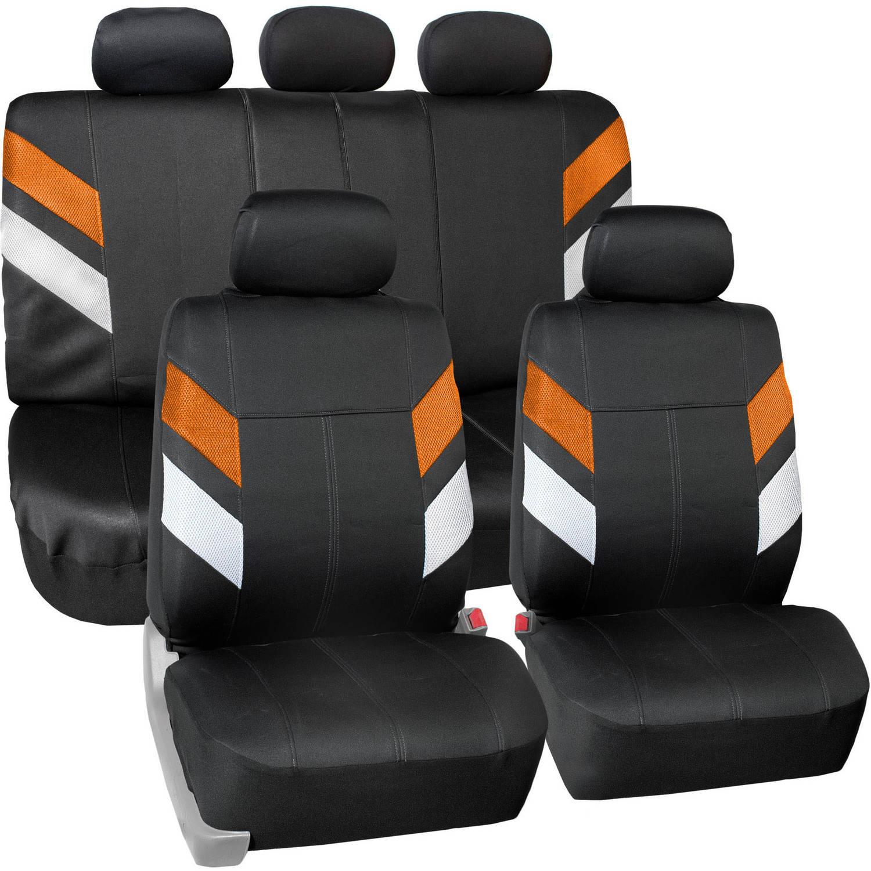 FH Group Modern Edge Waterproof Durable Neoprene Full Set Seat Covers, Orange
