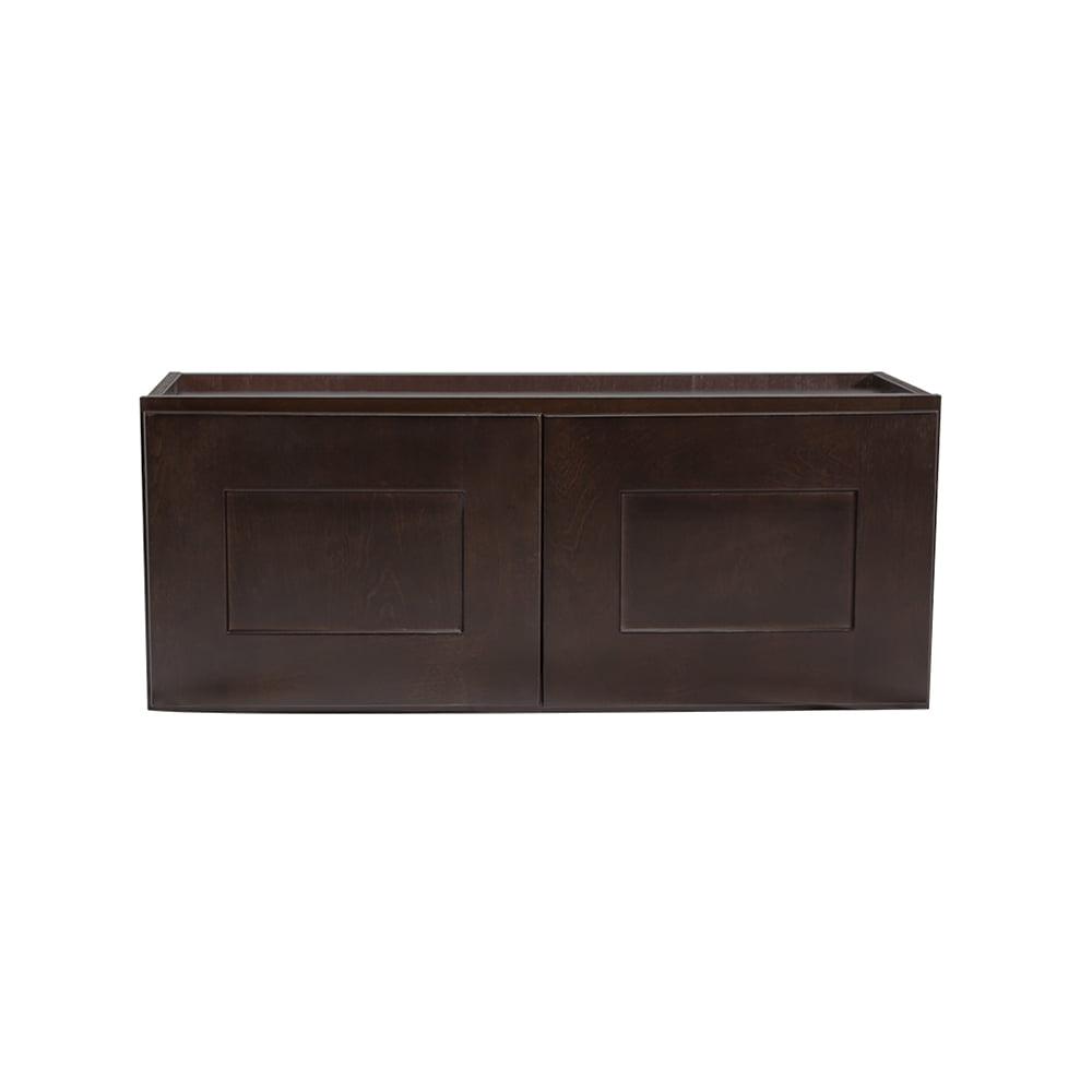 Design House 562231 Brookings Unassembled Shaker Wall Kitchen Cabinet 33x15x12, Espresso