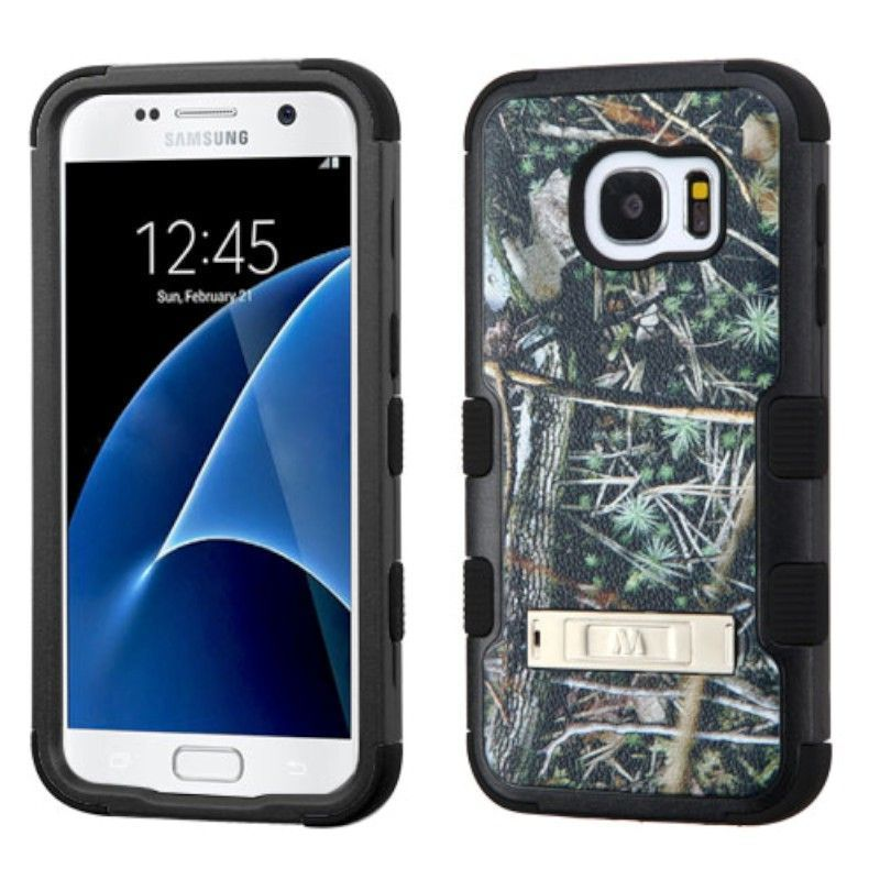 For Samsung Galaxy S7 TUFF Hybrid Rugged Phone Protector Case Cover w/Stand
