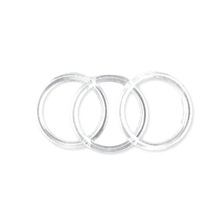 3 inch Clear Plastic Acrylic Craft Rings 5/16 inch Thick 12 (Plastic Craft Rings)