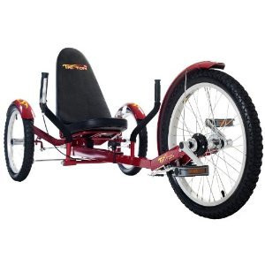 Triton Red 3 Three Wheel Wheeler Low Riding Rider Bicycle...