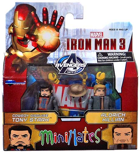 Diamond Selects Marvel Minimates Series 49: Aldrich Killian and Cowboy Tony Stark (Set of 2)