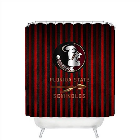 DEYOU Florida State Seminoles Shower Curtain Polyester Fabric Bathroom Size 66x72 Inch