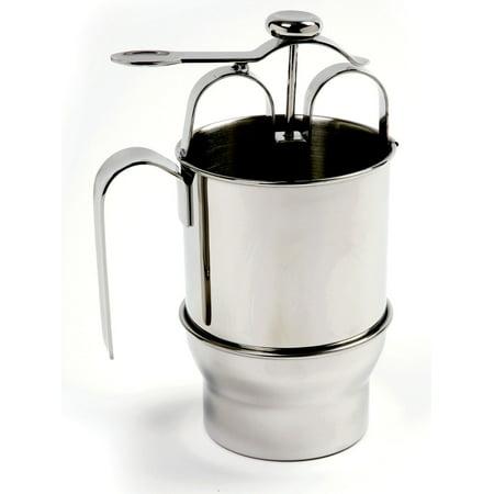 Norpro 18/10 S/S Pancake Waffle Crepe Batter Dispenser Pitcher Pourer Stainless