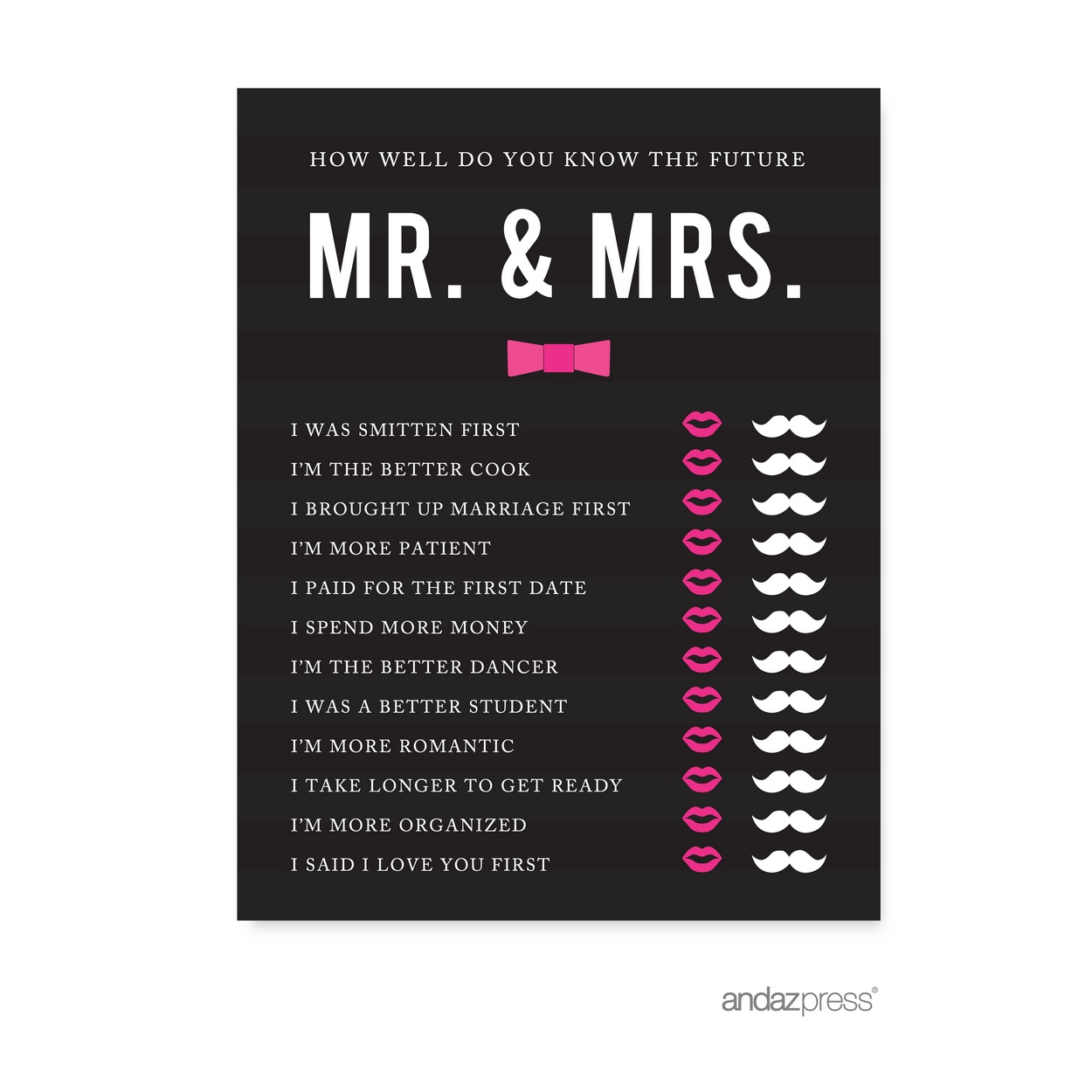 Mr And Mrs Quiz: How Well Do You Know The Future Mr./Mrs.? Modern Black And
